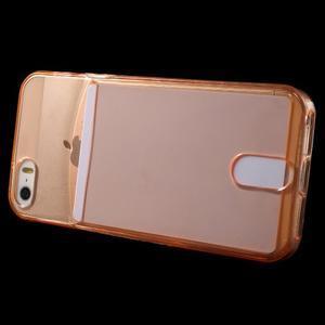 Ultra tenký obal s kapsičkou pro iPhone 5 a 5s - oranžový - 3