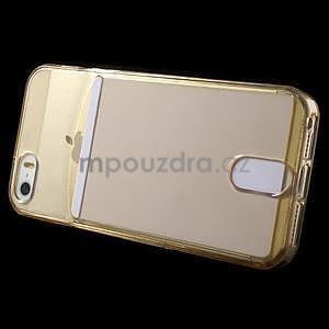 Ultra tenký obal s kapsičkou pro iPhone 5 a 5s - champagne - 3