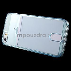 Ultra tenký obal s kapsičkou pro iPhone 5 a 5s - modrý - 3