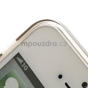 Gelový transparentní obal na iPhone 5 a 5s - šedý - 3