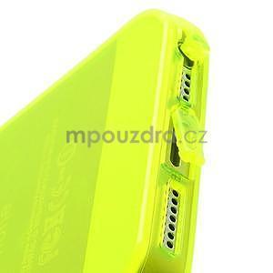 Gelový transparentní obal na iPhone 5 a 5s - zářivě žlutý - 3