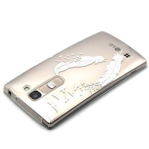 Průhledný gelový obal na LG G4c - ptačí pírka - 3
