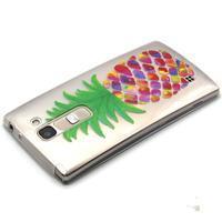 Průhledný gelový obal na LG G4c - ananas - 3/4