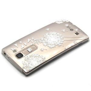 Průhledný gelový obal na LG G4c - bílá pampeliška - 3