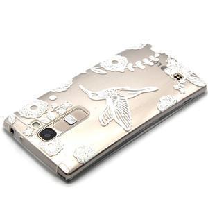 Průhledný gelový obal na LG G4c - ptáček - 3