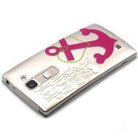 Průhledný gelový obal na LG G4c - kotva - 3/4