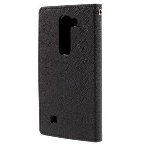 Diary PU kožené pouzdro na LG G4c - černé - 3