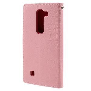 Diary PU kožené pouzdro na LG G4c - růžové - 3