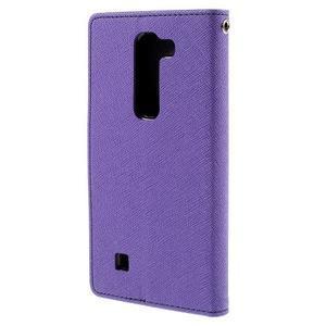 Diary PU kožené pouzdro na LG G4c - fialové - 3