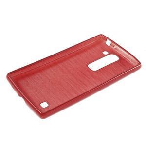 Brush gelový kryt na LG G4c H525N - červený - 3