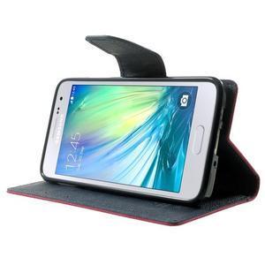 Diary PU kožené pouzdro na Samsung Galaxy A3 - rose - 3