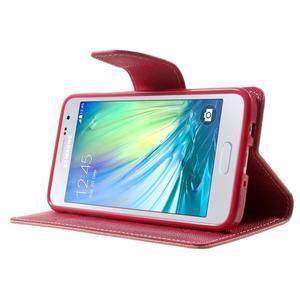 Diary PU kožené pouzdro na Samsung Galaxy A3 - růžové - 3