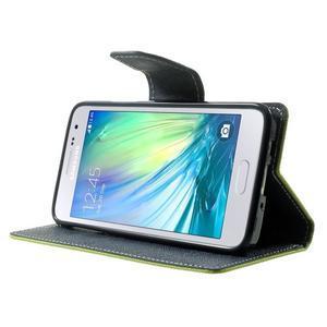 Diary PU kožené pouzdro na Samsung Galaxy A3 - zelené - 3