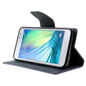 Diary PU kožené pouzdro na Samsung Galaxy A3 - fialové - 3