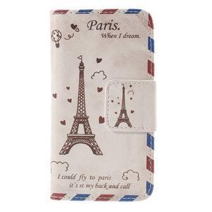 Pouzdro na mobil Samsung Galaxy A3 - Eiffelova věž - 3