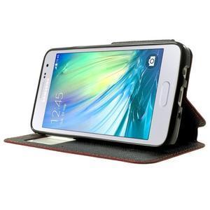 Roar peněženkové pouzdro s okýnkem na Samsung Galaxy A3 - červené - 3