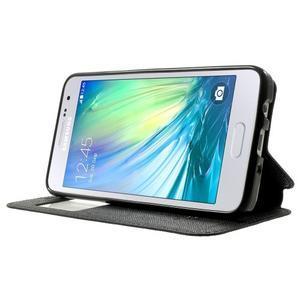 Roar peněženkové pouzdro s okýnkem na Samsung Galaxy A3 - černé - 3