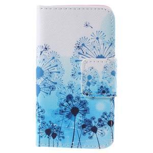Peněženkové pouzdro na Samsung Galaxy A3 - modré pampelišky - 3