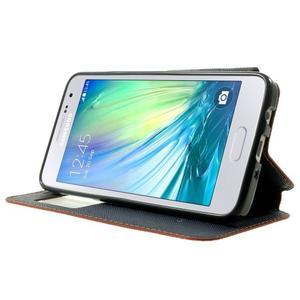 Roar peněženkové pouzdro s okýnkem na Samsung Galaxy A3 - oranžové - 3