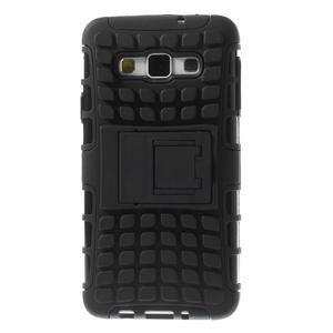 Outdoor odolný kryt na mobil Samsung Galaxy A3 - černý - 3