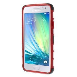Outdoor odolný kryt na mobil Samsung Galaxy A3 - červený - 3