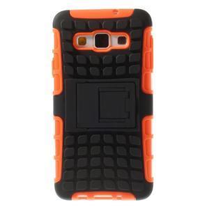 Outdoor odolný kryt na mobil Samsung Galaxy A3 - oranžový - 3