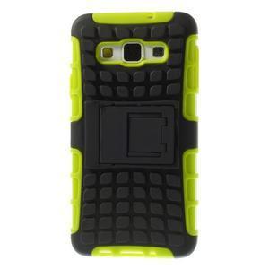 Outdoor odolný kryt na mobil Samsung Galaxy A3 - zelený - 3