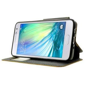 Roar peněženkové pouzdro s okýnkem na Samsung Galaxy A3 - žluté - 3