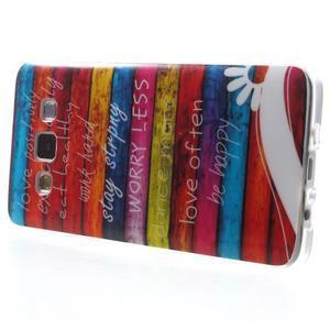 Gelový obal na mobil Samsung Galaxy A3 - barvy dřeva - 3