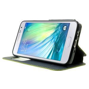 Roar peněženkové pouzdro s okýnkem na Samsung Galaxy A3 - zelené - 3