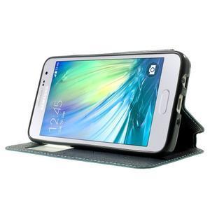 Roar peněženkové pouzdro s okýnkem na Samsung Galaxy A3 - světlemodré - 3