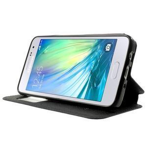 Roar peněženkové pouzdro s okýnkem na Samsung Galaxy A3 - tmavěmodré - 3