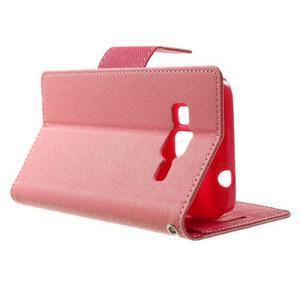 Fancy PU kožené pouzdro na Samsung Galaxy Core Prime - růžové - 3