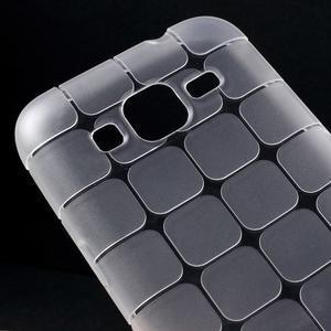 Square matný gelový obal na Samsung Galaxy Core Prime - transparentní - 3