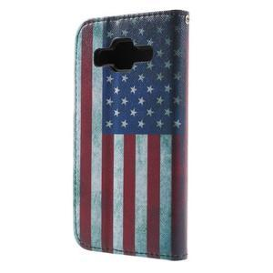 Pouzdro na mobil Samsung Galaxy Core Prime - US vlajka - 3