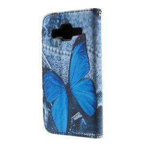Pouzdro na mobil Samsung Galaxy Core Prime - modrý motýl - 3
