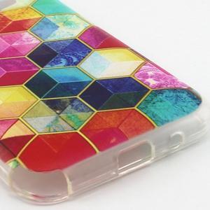 Gelový kryt na mobil Samsung Galaxy Core Prime - barvy hexagonu - 3