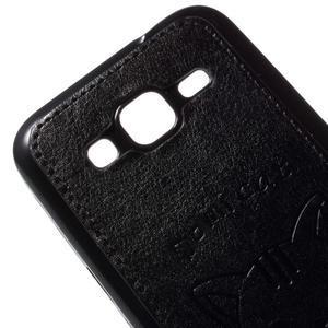 Kočička Domi kryt s koženkovými zády na Samsung Galaxy Core Prime - černý - 3