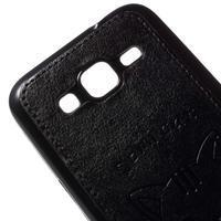Kočička Domi kryt s koženkovými zády na Samsung Galaxy Core Prime - černý - 3/5