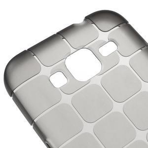 Square matný gelový obal na Samsung Galaxy Core Prime - šedý - 3