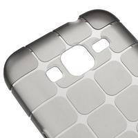 Square matný gelový obal na Samsung Galaxy Core Prime - šedý - 3/5