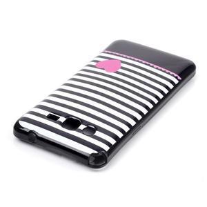 Jelly gelový obal na mobil Samsung Galaxy Grand Prime - srdce - 3