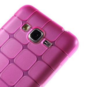 Square gelový obal na Samsung Galaxy Grand Prime - rose - 3