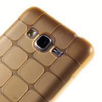 Square gelový obal na Samsung Galaxy Grand Prime - zlaté - 3/5