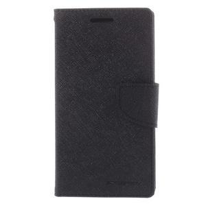 Diary PU kožené pouzdro na mobil Samsung Galaxy Grand Prime - černé - 3