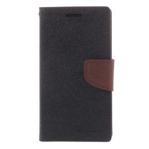 Diary PU kožené pouzdro na mobil Samsung Galaxy Grand Prime - čené/hnědé - 3