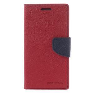 Diary PU kožené pouzdro na mobil Samsung Galaxy Grand Prime - červené - 3