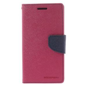 Diary PU kožené pouzdro na mobil Samsung Galaxy Grand Prime - rose - 3