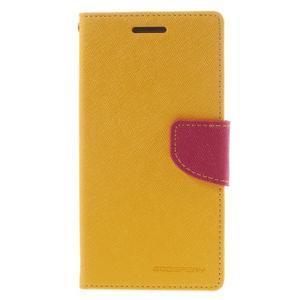 Diary PU kožené pouzdro na mobil Samsung Galaxy Grand Prime - žluté - 3