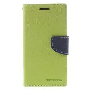 Diary PU kožené pouzdro na mobil Samsung Galaxy Grand Prime - zelené - 3